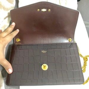 a4a573766b Mulberry Bags - Mulberry Darley Oxblood Deep Embossed Croc Print